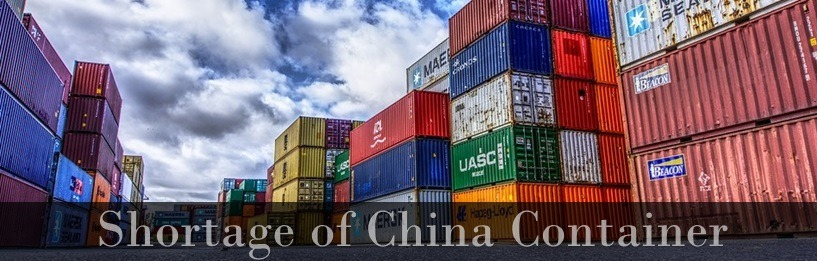 shortage of china container